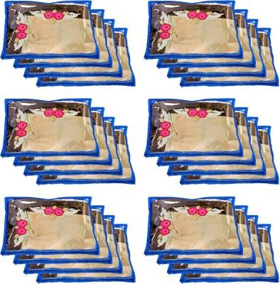 KUBER INDUSTRIES Plain Designer Non Woven Single Packing Saree Cover 24 Pcs Set CTKTC030702 Multicolor KUBER INDUSTRIES Garment Covers