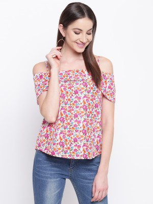 MAYRA Casual Short Sleeve Floral Print Women Multicolor Top MAYRA Women's Tops