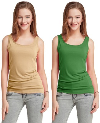 Fashion Line Casual Sleeveless Solid Women Multicolor Top