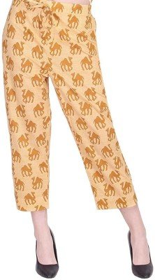 Jaipuri Dori Regular Fit Women Beige, Yellow Trousers