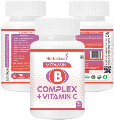 HerbalLeaf Vitamin B-Complex with Vitamin C Biotin Choline(90 Tablets)