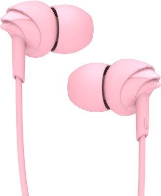 boAt BassHeads 100 Wired Headset(Taffy Pink, In the Ear)