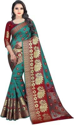 Dealbazaars Corporation Paisley Kanjivaram Jacquard, Art Silk Saree(Multicolor)
