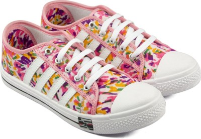 ASIAN Canvas Shoes For Women White, Pink ASIAN Canvas