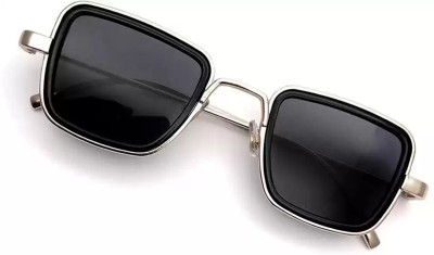 Cruze Retro Square Sunglasses(Black)