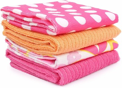 Online World (Pack Of 4) Colorful Microfiber Multipurpose Cleaning Cloth towel Duster...