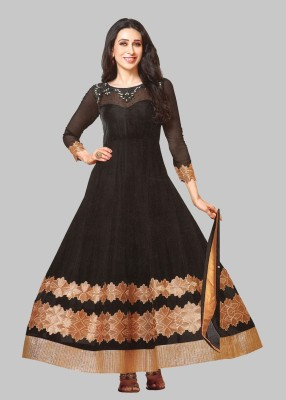 Reya Poly Georgette Embroidered Salwar Suit Material(Unstitched)