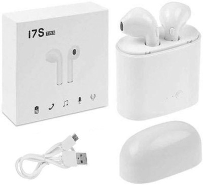 Lehza i7s sport Wireless Earphones With Charging Box Bluetooth Headset(White, True Wireless)
