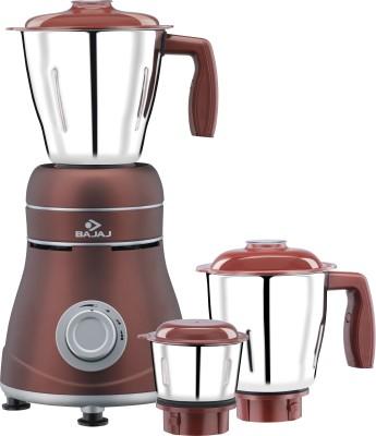 Bajaj Ivora Crimson Red 800 W Mixer Grinder(Brown, Grey, 3 Jars)