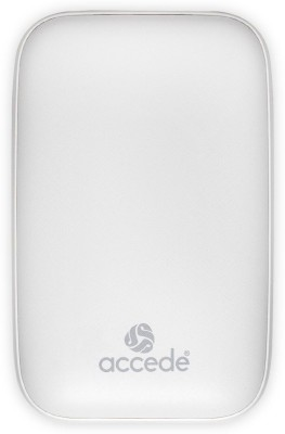 Accede 1000 mAh Power Bank(White, Lithium-ion)