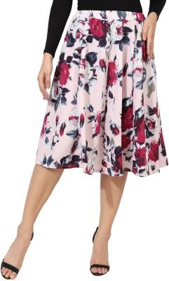 DB Enterprises Floral Print Women Regular Pink Skirt
