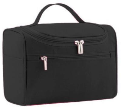 NIRVA Toiletry Kit Travel Cosmetic Organizer Travel Toiletry Kit(Black)