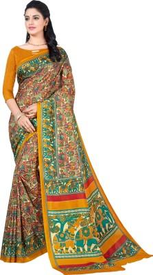 Lady Sringar Printed Fashion Art Silk Saree Multicolor