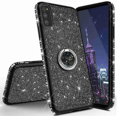 KC Back Cover for Samsung Galaxy M30s(Black, Cases with Holder, Silicon)