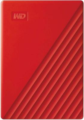 WD My Passport 2 TB External Hard Disk Drive(Red, Black)