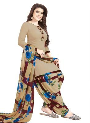 Fashion Valley Crepe Printed, Solid Kurta & Patiyala Material(Unstitched)
