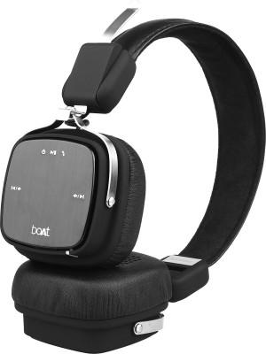 boAt Rockerz 370 Bluetooth Headset(Buoyant Black, Wireless over the head)