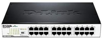 D Link 24 PORT 10/100 DESKTOP SWITCH Network Switch Black D Link Switches