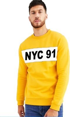 Leotude Full Sleeve Applique Men Sweatshirt