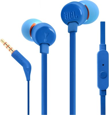 JBL Tune 110 Wired Headset(Blue, Wired in the ear)