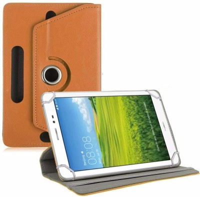 TGK Book Cover for Huawei Honor T1 S8-701U 8 inch Tablet(Orange, Cases with Holder)