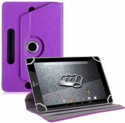 TGK Book Cover for Micromax Canvas Tab P666 Tablet 8 inch(Purple, Cases with Holder)