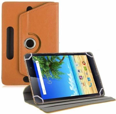 TGK Book Cover for iBall Slide Boi Mate Tablet 8.0 inch(Orange, Cases with Holder)