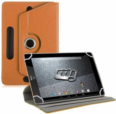 TGK Book Cover for Micromax Canvas Tab P666 Tablet 8 inch(Orange, Cases with Holder)