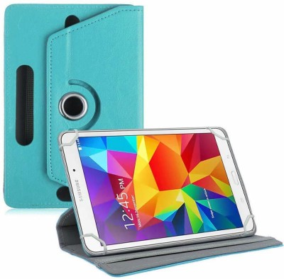 TGK Book Cover for Samsung Galaxy Tab 4 SM-T337 8 inch Tablet | Rotating Leather Stand Case(Blue, Cases with Holder)