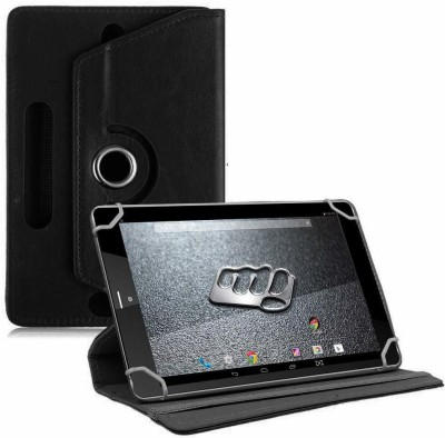 TGK Book Cover for Micromax Canvas Tab P666 Tablet 8 inch(Black, Cases with Holder)