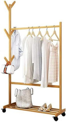 LEOPAX Wood Floor Cloth Dryer Stand Single Rod Stand 70CM(1 Tier)