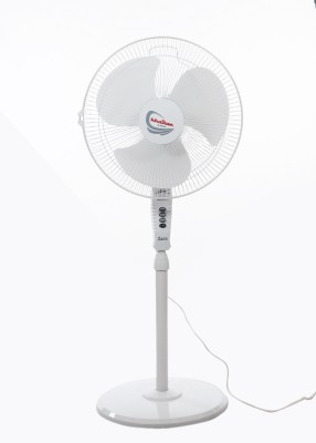 Khaitan Hi-Speed 400 mm Energy Saving 3 Blade Pedestal Fan(White, Pack of 1)