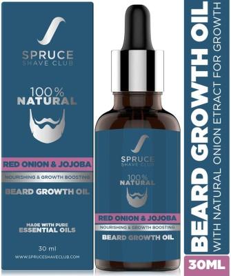 Spruce Shave Club Beard Growth Oil with Onion Oil For Beard & Hair Growth | 100% Natural Hair Oil(30 ml)