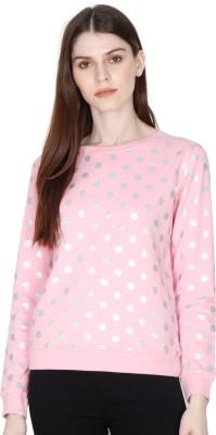 Sollobell Full Sleeve Polka Print Women Sweatshirt