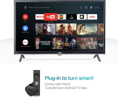 MarQ by Flipkart Innoview 80cm (32 inch) HD Ready LED Smart Android TV  with TurboStream Box(32VNSSHDM)