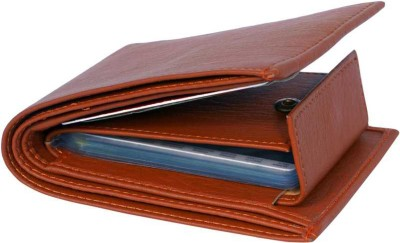 loopa Men Tan Artificial Leather Wallet(9 Card Slots)