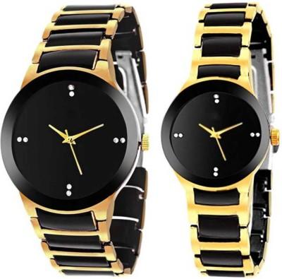 RONIRY RN-122 Best Designer Gold 2 Combo Couple Watch For Men & Women Analog Watch - For Men & Women 122 Analog Watch  - For Men & Women