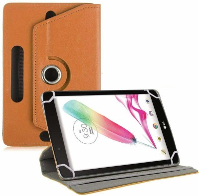 TGK Book Cover for LG G Pad F Tablet 8 inch Rotating Leather Stand Case(Orange, Cases with Holder)