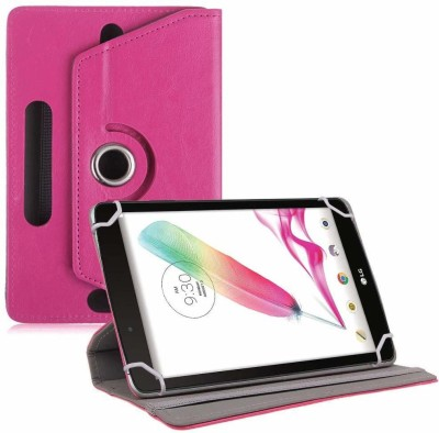 TGK Book Cover for LG G Pad F Tablet 8 inch Rotating Leather Stand Case(Pink, Cases with Holder)