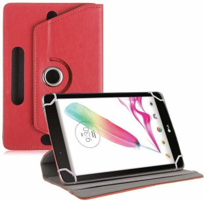 TGK Book Cover for LG G Pad F Tablet 8 inch Rotating Leather Stand Case(Red, Cases with Holder)