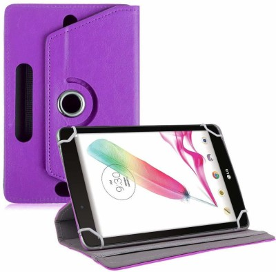TGK Book Cover for LG G Pad F Tablet 8 inch Rotating Leather Stand Case(Purple, Cases with Holder)