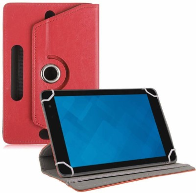 TGK Book Cover for Dell Venue 8 Pro 5000 / 3000 Series Tablet 8 inch(Red, Cases with Holder)