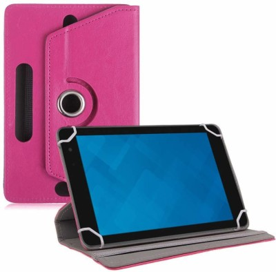 TGK Book Cover for Dell Venue 8 Pro 5000 / 3000 Series Tablet 8 inch(Pink, Cases with Holder)