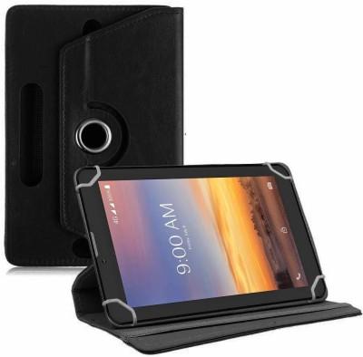 TGK Flip Cover for Lava T71 tablet 7 inch Universal Rotating Case(Black, Cases with Holder)