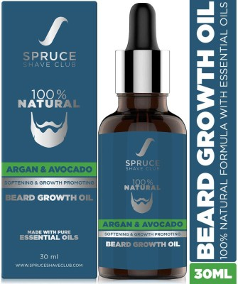 Spruce Shave Club Beard Growth Oil | 100% Natural | For Beard Growth Hair Oil(30 ml)
