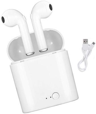 CASADOMANI handfree Wireless Earbuds headphone with Charging Box Bluetooth Headset(White, True Wireless)