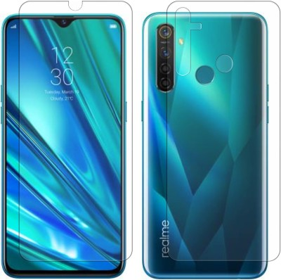 Vonqo Front and Back Screen Guard for Realme 5 Pro(Pack of 2)