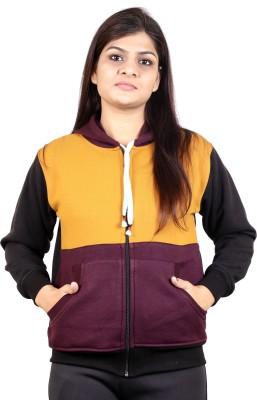 ALS Full Sleeve Self Design Women Sweatshirt