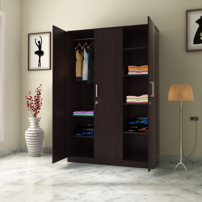 Flipkart Perfect Homes Julian Engineered Wood 3 Door Wardrobe(Finish Color - Espresso)