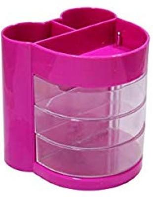 KNAFS 6 Compartments PLASTIC PEN STAND(Multicolor)